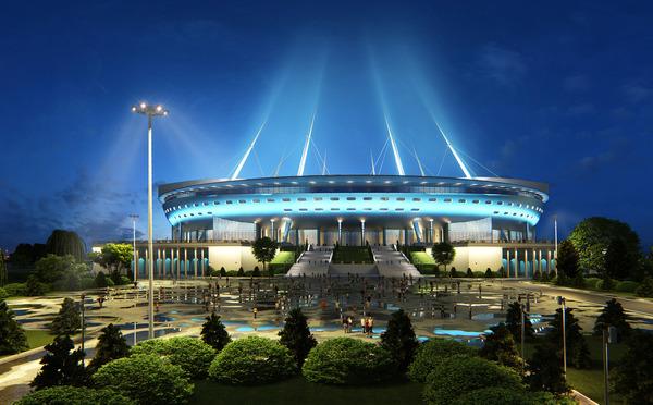 ...Gazprom-Arena), г.Санкт-Петербург, Россия.  Будущий стадион Зенита.