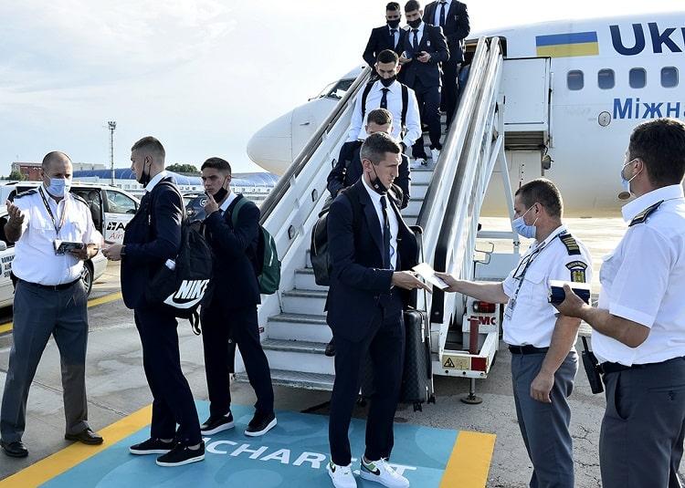 Сборная Украины прибыла в Румынию